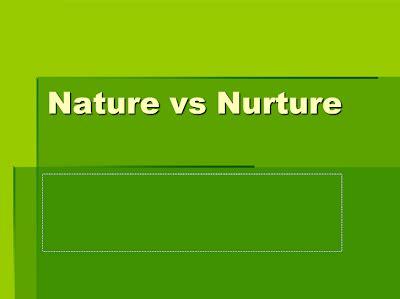 Nature nurtures us essay